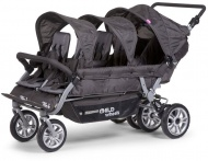 Childhome Six Seater Wandelwagen Anthracite met Rem + Rc + Sc