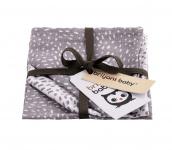 Briljant Monddoek Minimal Dots Grey 3-Pack