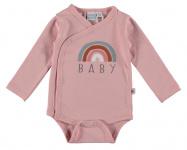 Babylook Romper Rainbow Silver Pink