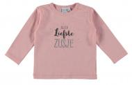 Babylook T-Shirt Liefste Zusje Silver Pink