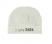 Babylook Muts I Love Papa White