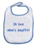 La Petite Couronne Slab Ik Ben Oma's Knuffel White Blue