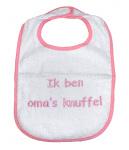 La Petite Couronne Slab Ik Ben Oma's Knuffel White Pink