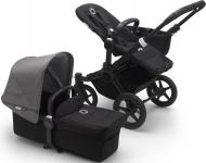 Bugaboo Donkey3 Mono Zwart Frame/ Style Set Black/ Uitklapbare Zonnekap Grey Melange