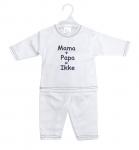 La Petite Couronne 2-Delige Set Mama+Papa White Navy