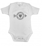 La Petite Couronne Romper Made With Love White Silver