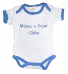 La Petite Couronne Romper Mama + Papa White Blue
