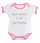 La Petite Couronne Romper Mama Is De Allerliefste White Pink