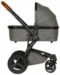 Kidsriver Daya Kinderwagen Zwart-Cognac/Grijs Melange