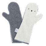 Invented 4 Kids Washand Baby Shower Glove Penguin Donker / Licht