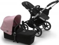 Bugaboo Donkey3 Mono Aluminium Frame/ Style Set Black/ Uitklapbare Zonnekap Soft Pink