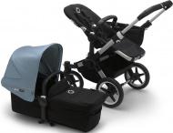 Bugaboo Donkey3 Mono Aluminium Frame/ Style Set Black/ Uitklapbare Zonnekap Vapor Blue