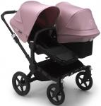 Bugaboo Donkey3 Duo Zwart Frame/ Style Set Black/ Uitklapbare Zonnekappen Soft Pink