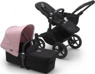 Bugaboo Donkey3 Mono Zwart Frame/ Style Set Black/ Uitklapbare Zonnekap Soft Pink