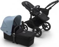 Bugaboo Donkey3 Mono Zwart Frame/ Style Set Black/ Uitklapbare Zonnekap Vapor Blue