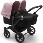 Bugaboo Donkey3 Twin Zwart Frame/ Style Set Black/ Uitklapbare Zonnekappen Soft Pink