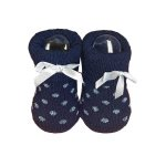 La Petite Couronne Sokjes Dots Glitter Navy Newborn
