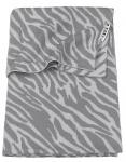Meyco Ledikantdeken Zebra Grijs 100 x 150 cm