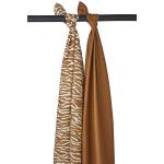 Meyco Swaddle Zebra Camel (2 stuks)