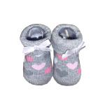 La Petite Couronne Sokjes Hearts Grey Pink Newborn