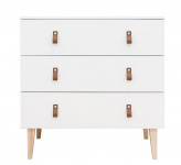 Commode 3 Laden Indy White/Naturel