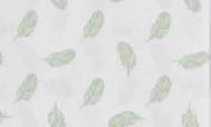Cottonbaby Wieglaken Veren Oudgroen 75 x 90 cm