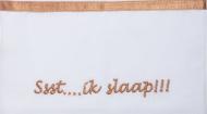 Briljant Ledikantlaken Ssst...ik slaap!!! Terra  100 x 150 cm