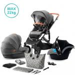 Kinderkraft Combi 3 in 1 PRIME Grey Incl Autostoel/Mommy Bag