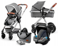 Kinderkraft Multipurpose 3 in 1 VEO Grey Incl Autostoel/Mommy Bag