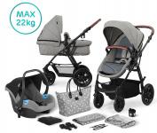 Kinderkraft Multipurpose 3 in 1 XMOOV Grey Incl Autostoel-Mommy Bag