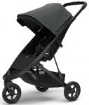 Thule Spring Stroller Black Inclusief Canopy Shadow Grey