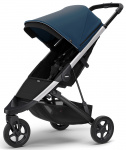 Thule Spring Stroller Aluminium Inclusief Canopy Majolica Blue