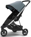 Thule Spring Stroller Aluminium Inclusief Canopy Teal Melange