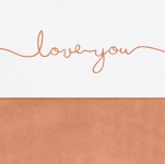 Jollein Wieglaken Love You Caramel 75 x 100 cm