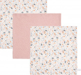 Little Dutch Monddoek Spring Flower/Pure Pink/Spring Flower 3-Pack