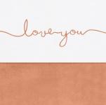 Jollein Laken Love You Caramel 120 x 150 cm