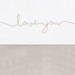 Jollein Laken Love You Nougat 120 x 150 cm