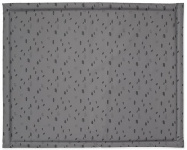 Jollein Boxkleed Spots Storm Grey 75 x 95 cm
