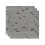 Jollein Hydrofiele Multidoek Small 70x70 Spot Storm Grey 3pck