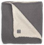 Jollein Wiegdeken Teddy Bliss Knit Storm Grey  75 x 100 cm