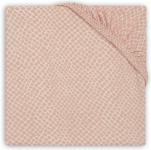 Jollein Ledikanthoeslaken Jersey  60 x 120 cm Snake Pale Pink