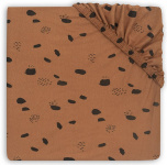 Jollein Hoeslaken Boxmatras Jersey Spots Caramel 75 x 95 cm