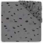 Jollein Hoeslaken Boxmatras Jersey Spots Storm Grey 75 x 95 cm