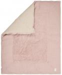 Koeka Boxkleed Wafel Amsterdam Grey Pink/Sand   80 x 100 cm
