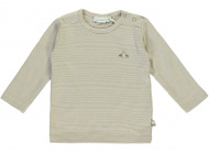 Babylook T-Shirt Stripe Silver Mink