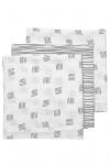 Meyco Luier Block Stripe Grijs 70x70cm 3-Pack