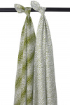 Meyco Swaddle Snake / Cheetah Avocado 2-Pack