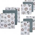 Meyco Starterset Luier - Monddoek - Washand Animal 9-Pack