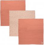 Bébé-Jou Multidoek 70x70 cm Fabulous Wish Pink (3 stuks)
