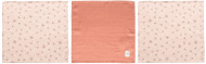 Bébé-Jou Monddoek Fabulous Wish Pink 3-Pack